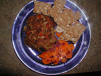 Haute Meatloaf with Carrots and Crisp Bread