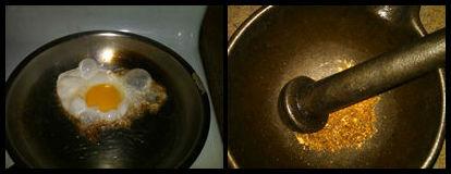 Sunny Side Up Egg (l) | Ground Nutmeg (r)