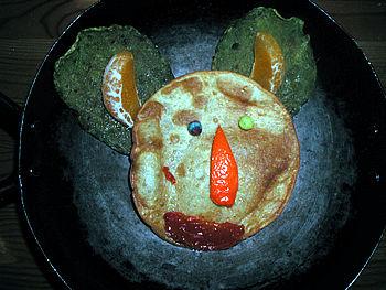 Pixie-Taurus Tostada: corn tortilla, cactus, mineola, sun dried tomato