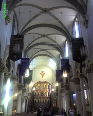 Cathedral Basilica of Saint Francis of Assisi (back interior)
